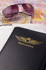 daytonaaviationacademy com private pilots licence logbook map and sunglasses